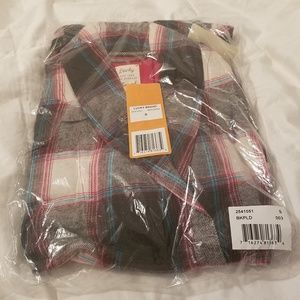 NWT Lucky Brand Women's Plaid Flannel Robe